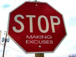motivationalexcusesstopsign